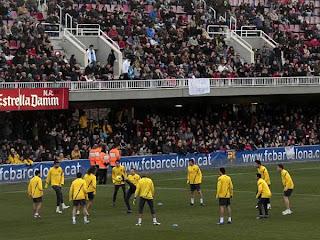 Barcelona realizó un entrenamiento abierto al público