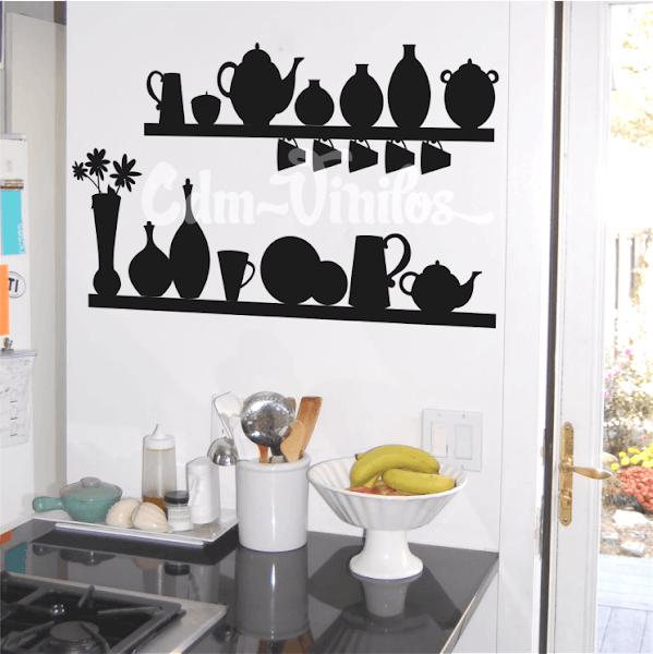 Vinilo decorativo para cocina estantes w305 cdm vinilos for Vinilos para cocina