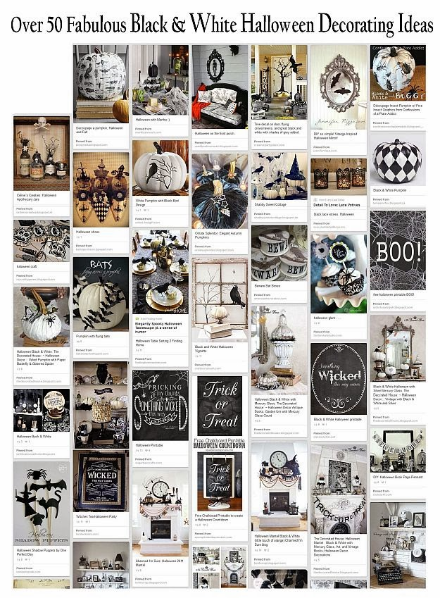 Black and White Halloween Decor : Over 50 Great Decorating Ideas :: The Decorated House