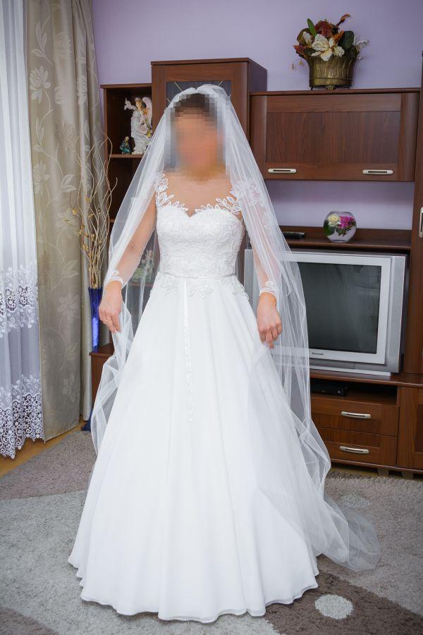 Suknie ślubne Vestido Delikatna I Zwiewna Suknia ślubna O Kroju