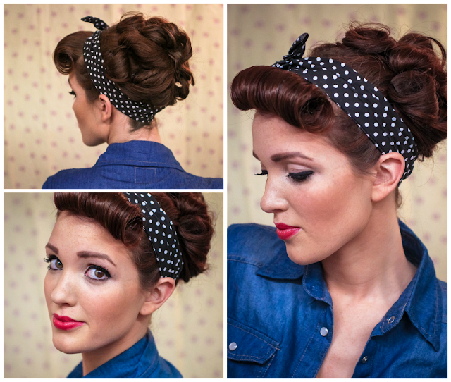 semi mohawk hairstyle : ... Hair Tutorial Rockabilly Rosie The Riveter Inspired LONG HAIRSTYLES