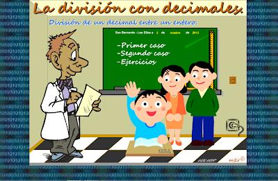 División de un decimal entre un entero,división,decimales,entero,decimal