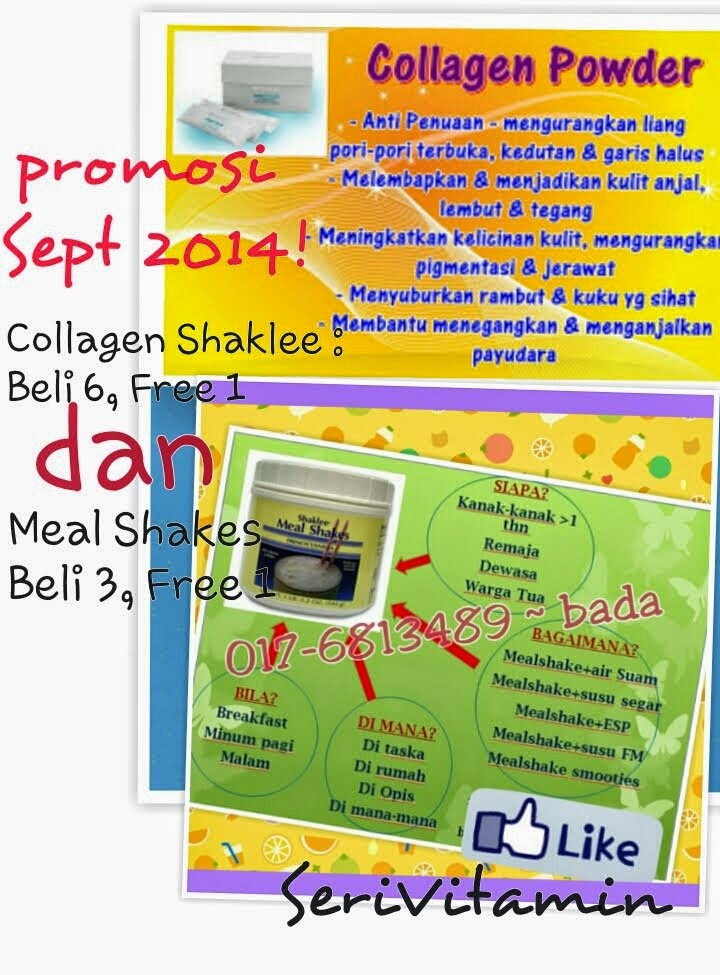 Promo Sep 2014 :  Collagen Powder & Meal Shakes x Shaklee