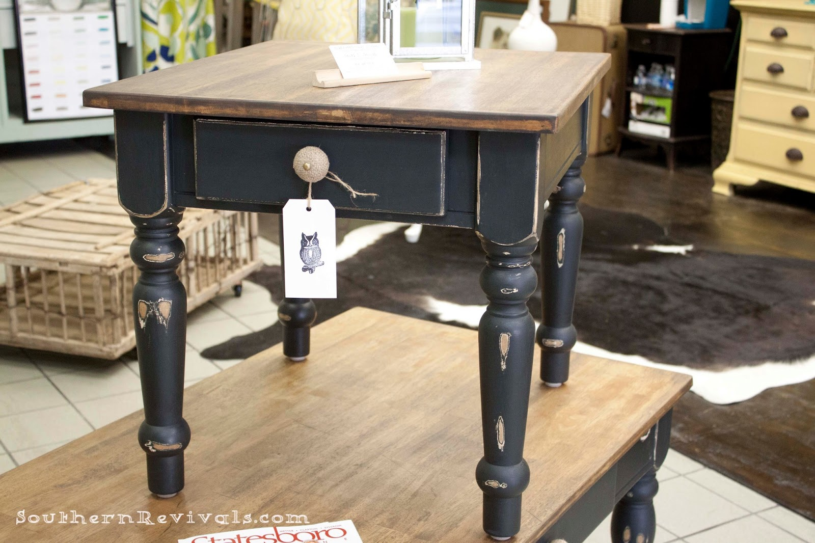 Pottery Barn Inspired Coffee Table U0026 End Table Makeover   Southern Revivals