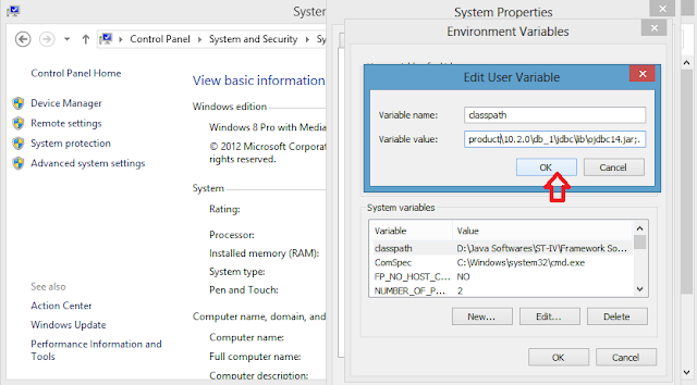 path & Classpath in windows 8