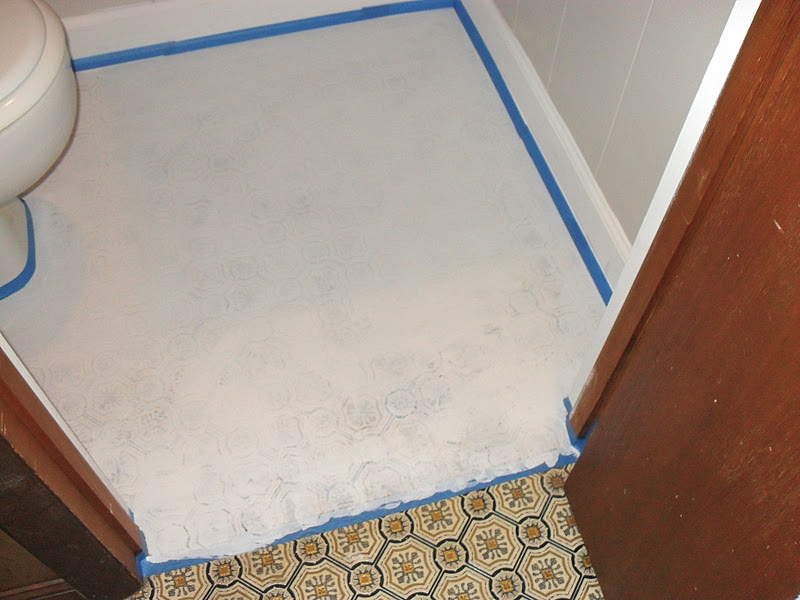 painting a bathroom. Floor After First Coat of Primer The Remodeled Life  Painting a Bathroom
