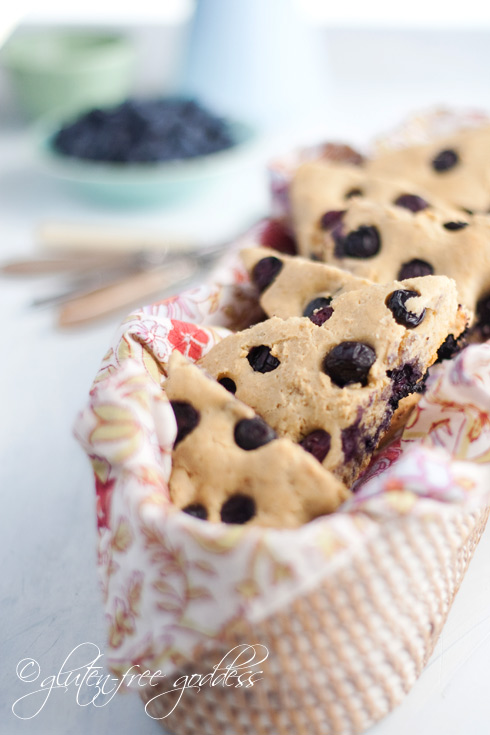 Gluten-Free Goddess Blueberry Scones