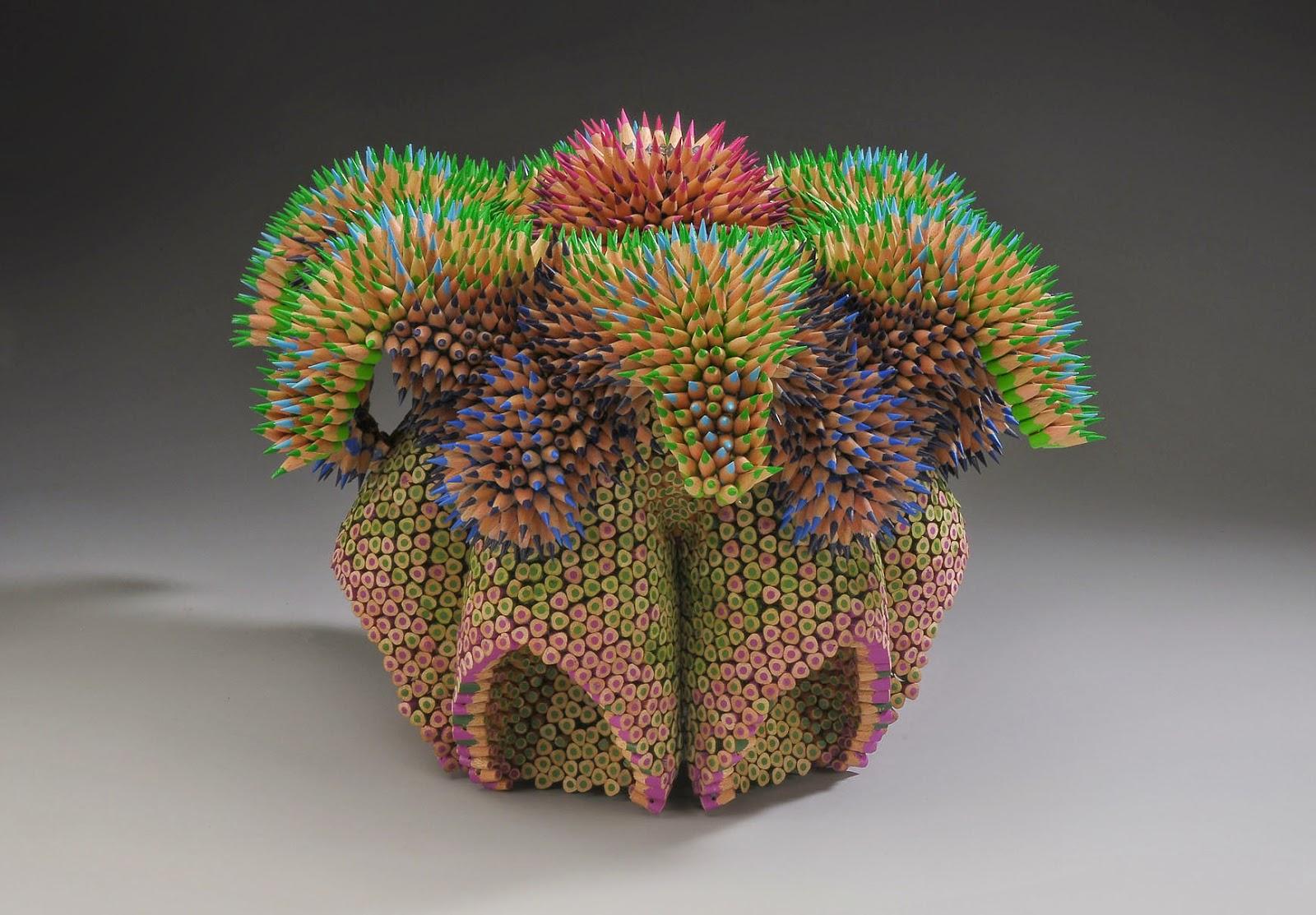 Jennifer Maestre, esculturas con lápices
