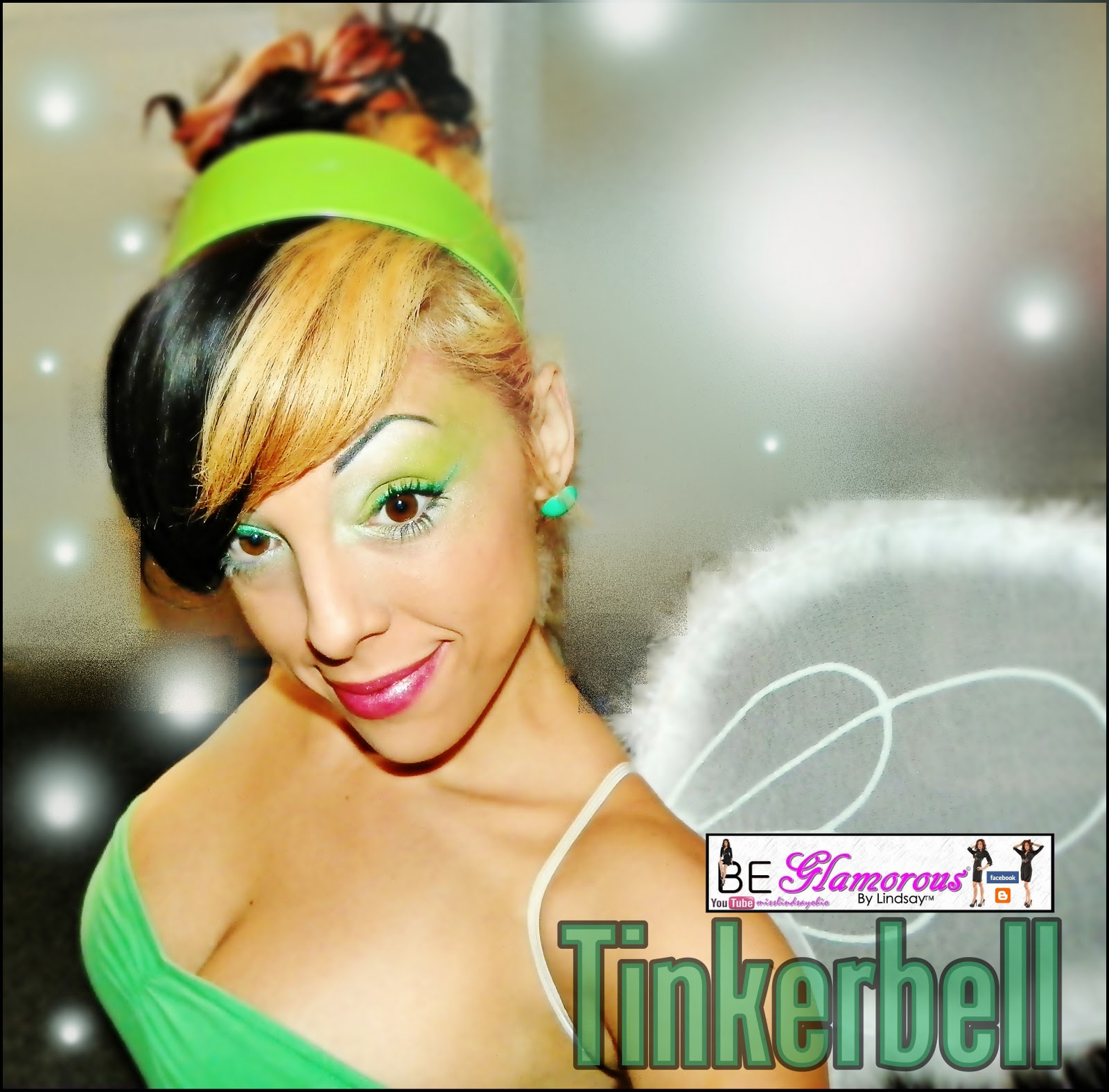 Be glamorous by lindsay green fairy makeup halloween tutorial green fairy makeup halloween tutorial inspired by tinkerbell baditri Images