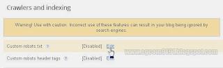 Edit Custom robots.txt