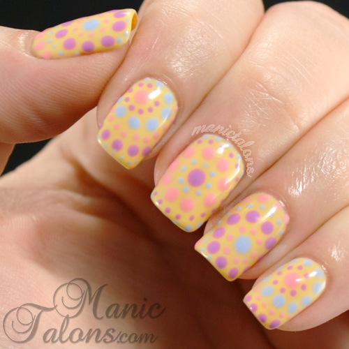 pastel dot manicure with LeChat gel polish