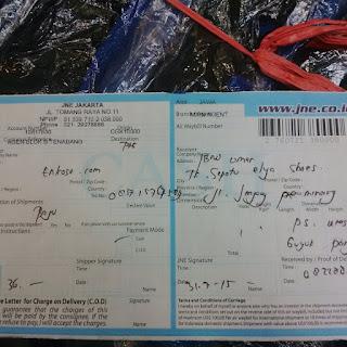 Nomer resi bukti pengiriman atas nama Ibnu Umar oleh enkosa sport toko online pakaian bola terpercaya lokasi di jakarta