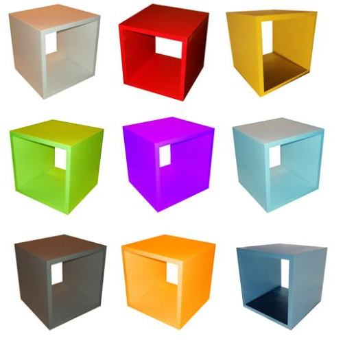 Bachas Para Baño Esquineras:Cubos en FibroFacil de 15 mm de 30x30x30 para pintar
