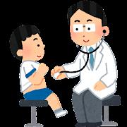 内科検診のイラスト(学校の健康診断)