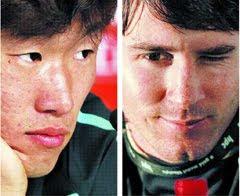 Duel Park Ji Sung dan Lionel Messi