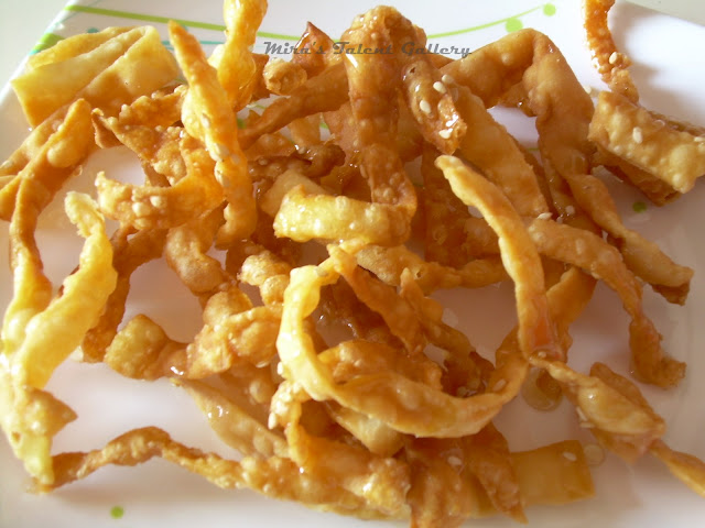 ... @ My Hobby Lounge: Fried Wonton Strips - an yummy evening snack