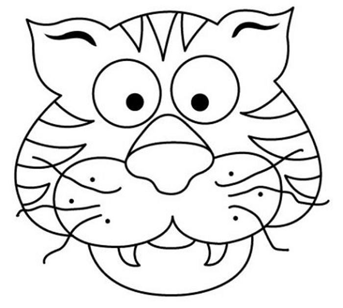 Tigre para colorear - Imagui