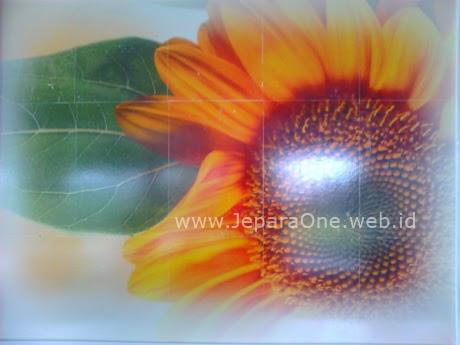 hiasan dinding sun flower