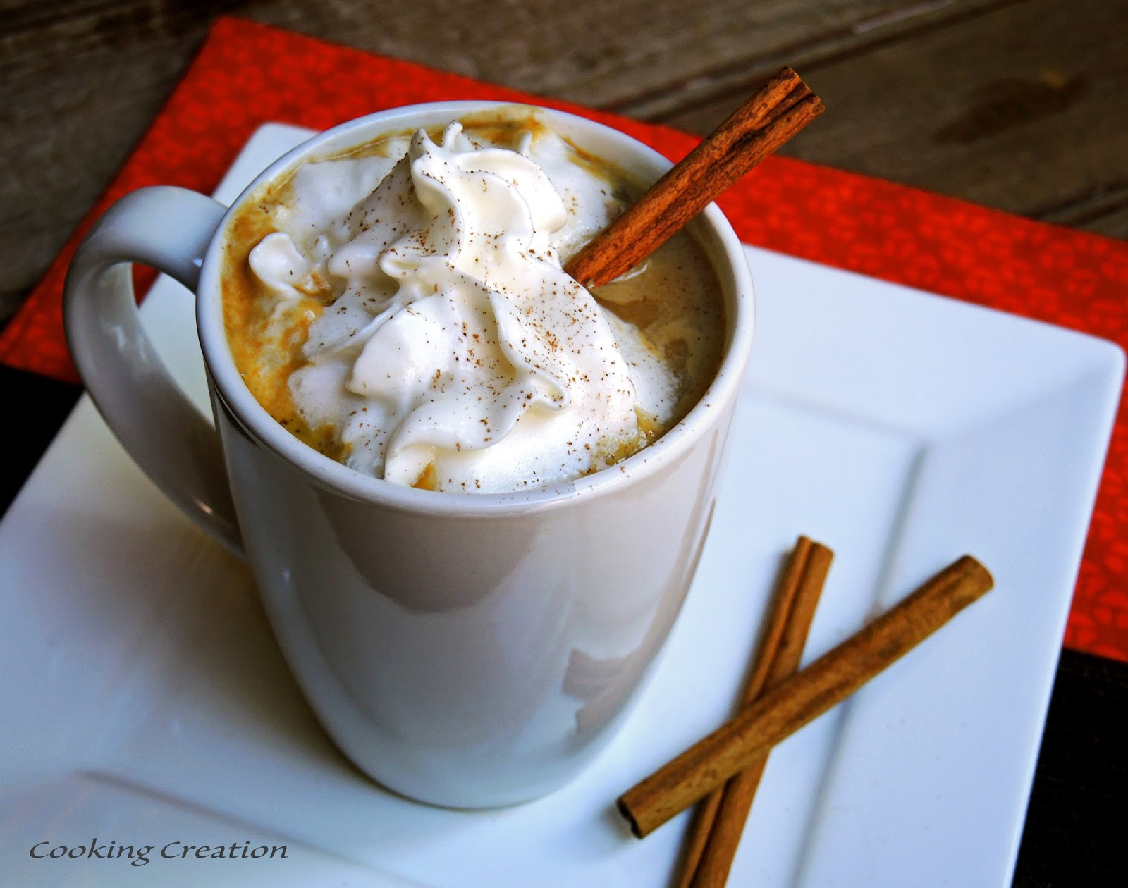 ... pumpkin spice latte. Go ahead - you deserve it! Pour in a little rum