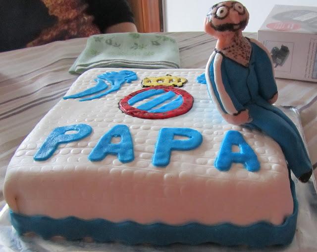 pastel tarta RCD Espanyol fondant RCDE perico