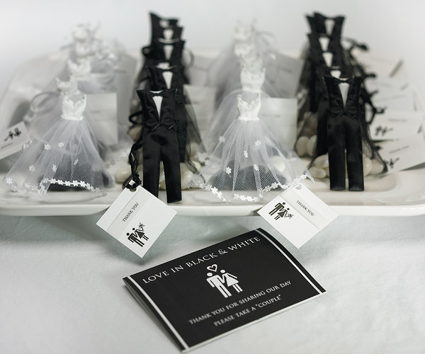 my wedding favors etc Wedding Favor Ideas Black And White \