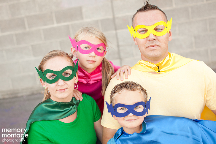 superhero photo shoot yakima family photographer