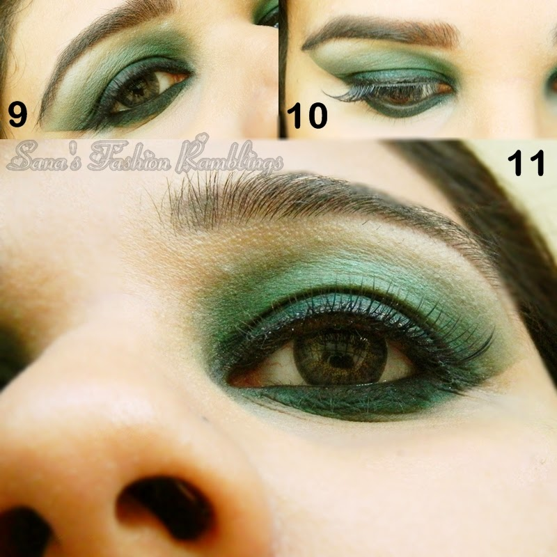 Deep Green Smoky Eyes