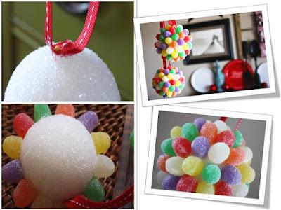 Bola Decorativa de Jujubas / Balas de Goma