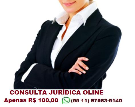 Consulta Jurídica, Assessoria ONLINE. Apenas R$ 100,00