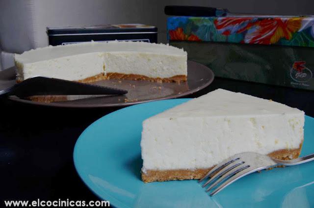 Tarta de limón y queso sin horno