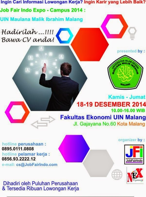 Job Fair Indo Expo Campus 2014 Di UIN Maliki Malang