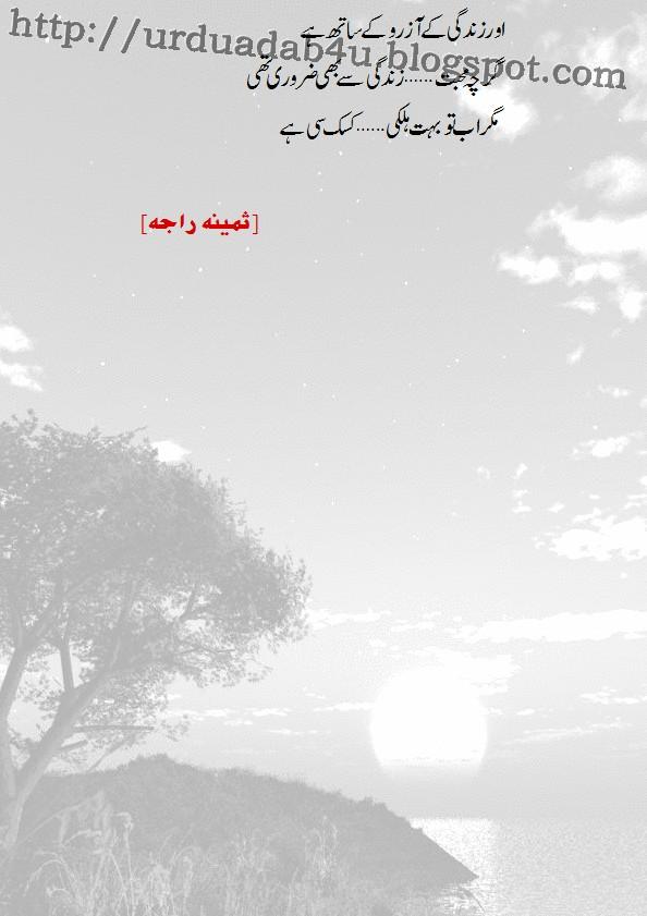 Samina Raja nice poetry