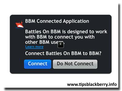 battles on bbm akan meminta persetujuan untuk melakukan koneksi ke bbm