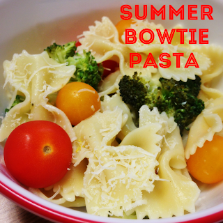 Summer Bowtie Pasta on Katy's Kitchen