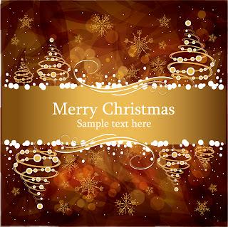 ゴージャスな金色のクリスマスカード見本 christmas gorgeous brown background イラスト素材