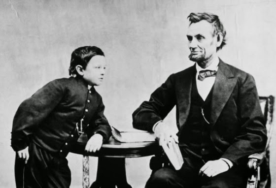 Lincoln with his son, Tad, in 1865. By this time, Lincoln had already lost a son Willie to typhoid