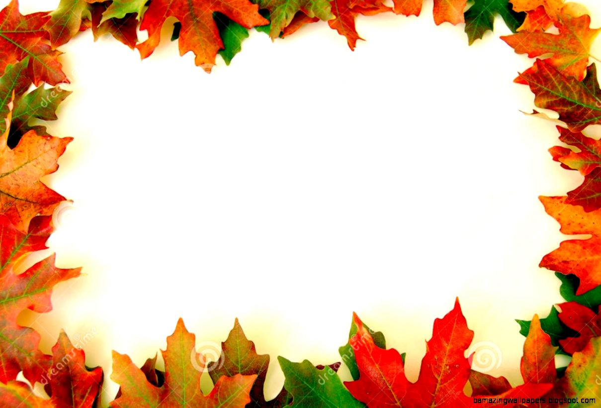 Autumn Leaves Border Clipart