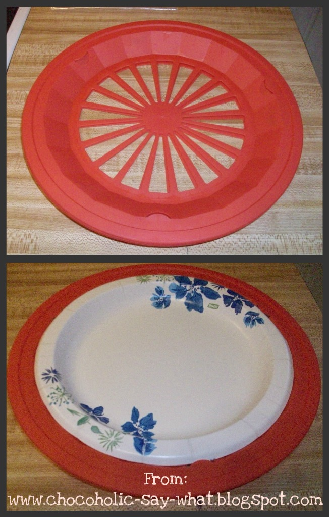 Silly Saturday Find - Plastic Paper Plate Holder & Chocoholic Say What!?!: Silly Saturday Find - Plastic Paper Plate Holder