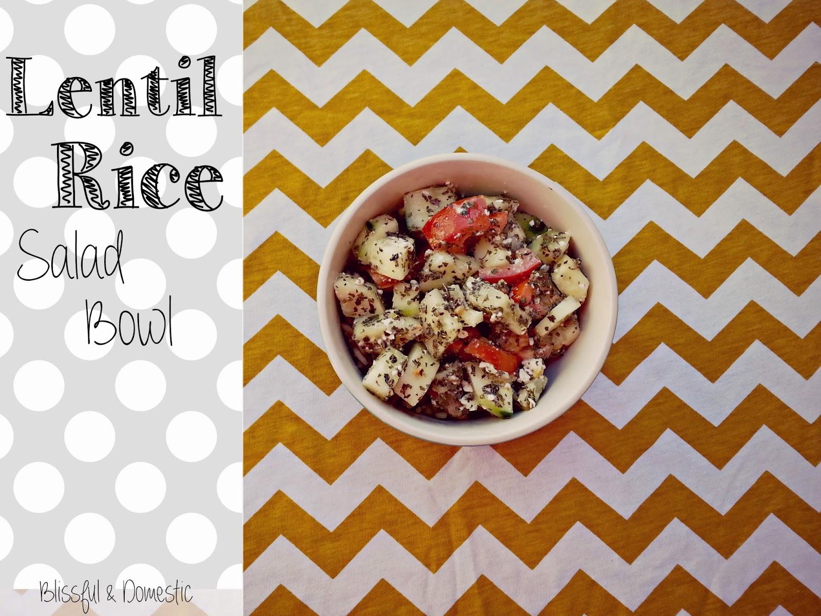 Lentil Rice Salad Bowl...
