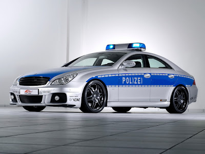 Mercedes Police Car
