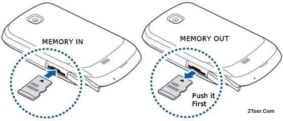 Samsung Galaxy Mini GT-S5570 Insert Memory Card Remove microSD