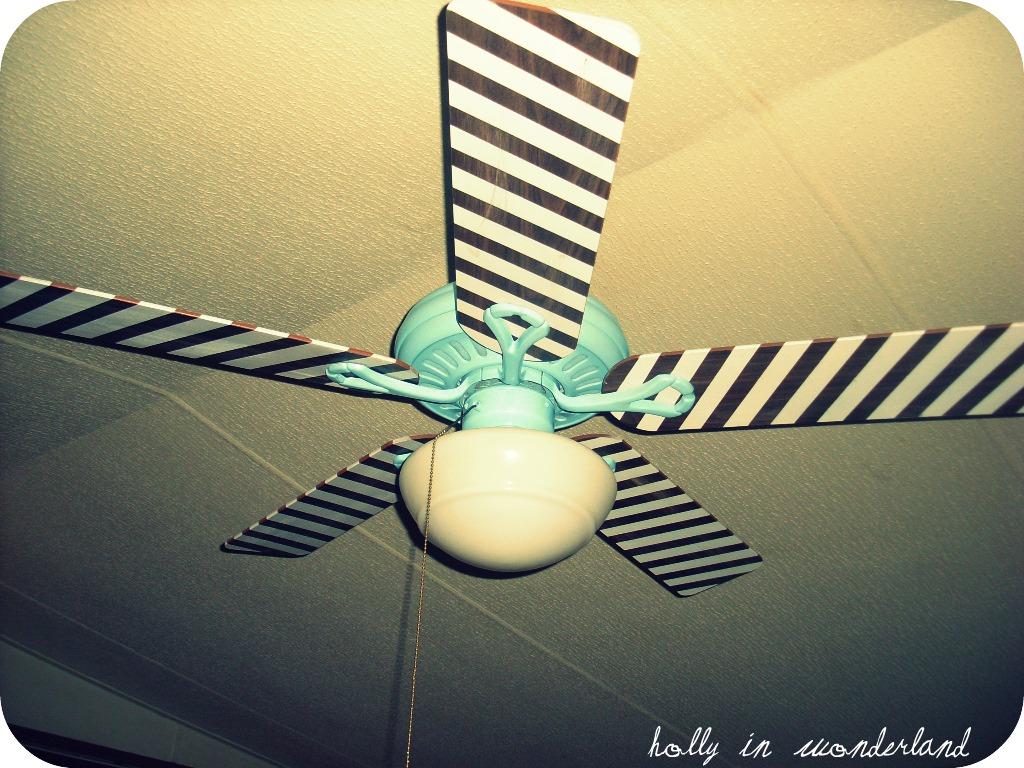Paint Ceiling Fan : Painted ceiling fan holly in wonderland