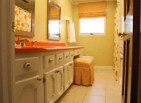 Cool Orange Bathroom Design Ideas ~ Home Design