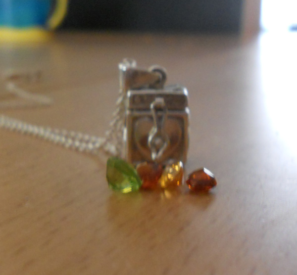 citrine and peridot gems