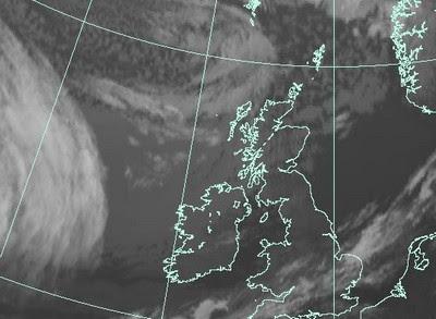 OPHELIA ist schon fast angekommen vor Großbritannien, Europa, Ophelia, Europa, Oktober, 2011, Hurrikansaison 2011, aktuell, Satellitenbild Satellitenbilder,