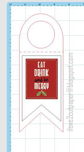 Bottle Tag, Christmas Printable, ilove2cutpaper, LD, Lettering Delights, Pazzles, Pazzles Inspiration, Pazzles Inspiration Vue, Inspiration Vue, Print and Cut, svg, cutting files, templates,