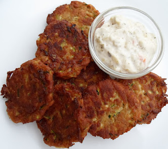 Mock Crab Cakes-made with zucchini