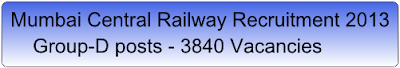 central railway recruitment 2013