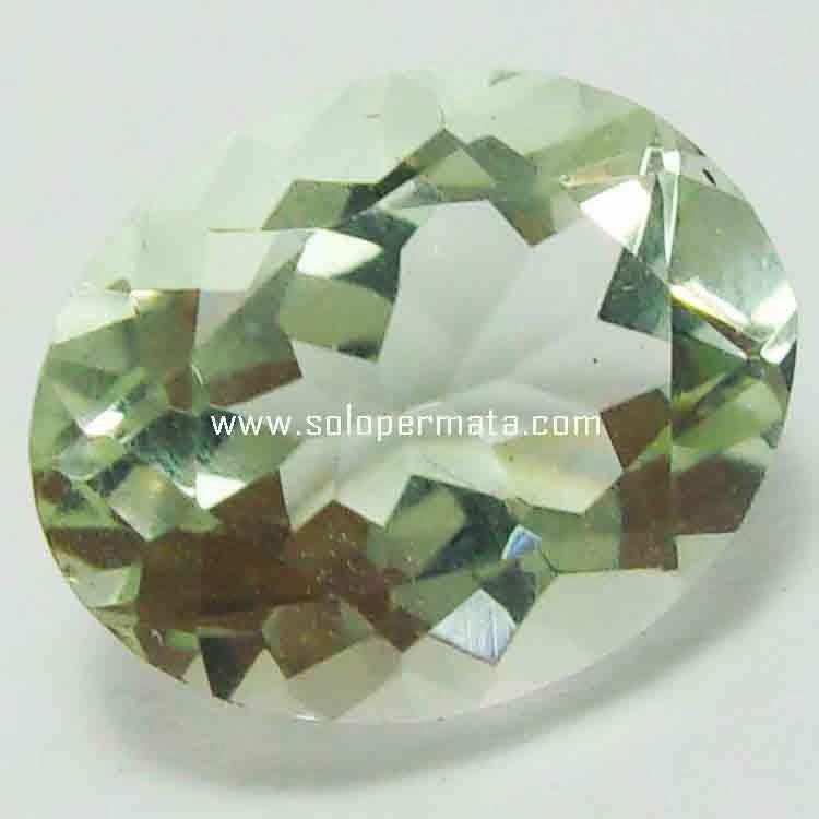 Batu Permata Green Prasiolite - 21B02