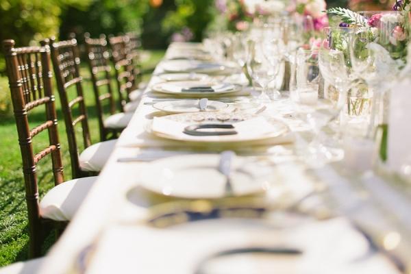 elegante mesa de boda